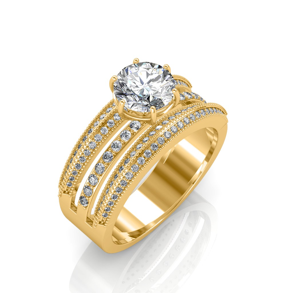 The Aurora Solitaire Ring Solitaire Diamond Rings At Best Prices In India Sarvadajewels Com