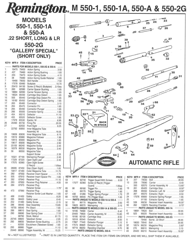 Remington 700 Parts Breakdown Diagram 1122x1440