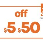 $5 OFF $50 HD HOME DEPOT ONLINE COUPON