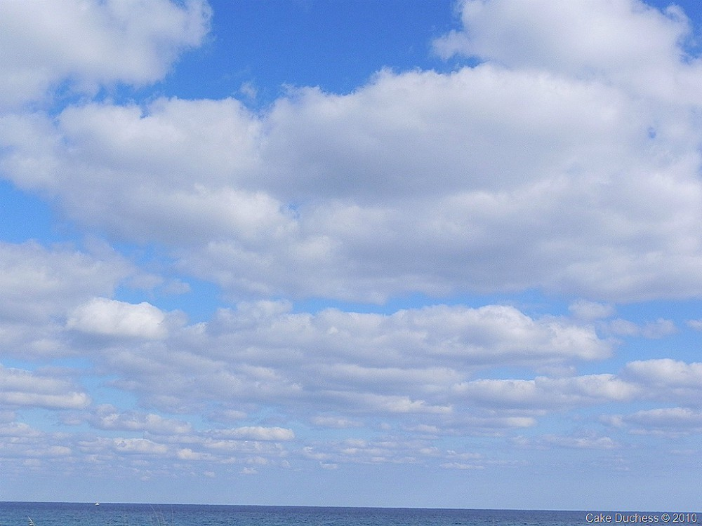 image of a clouds and beach
