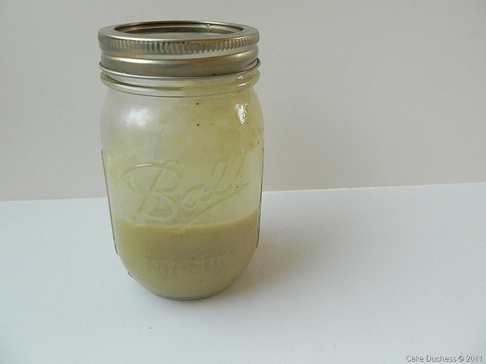image of dressing in a glass jar