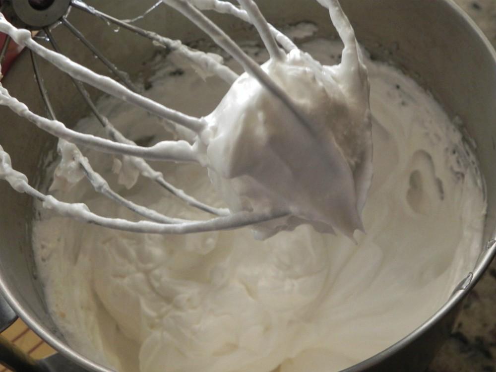 overhead image of making meringue