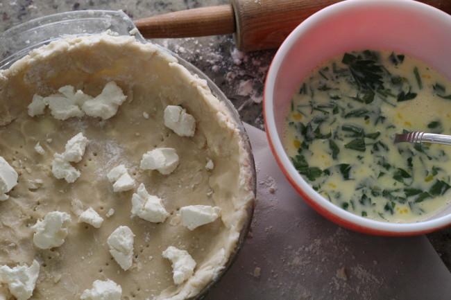 Ham, Goat Cheese and Vidalia Onion Tart {torta salata}