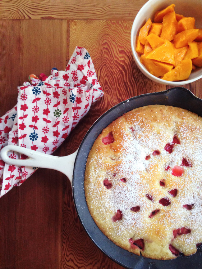Oven-Baked Strawberry Pancake