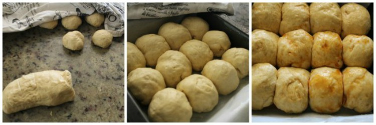overhead images of making rolls