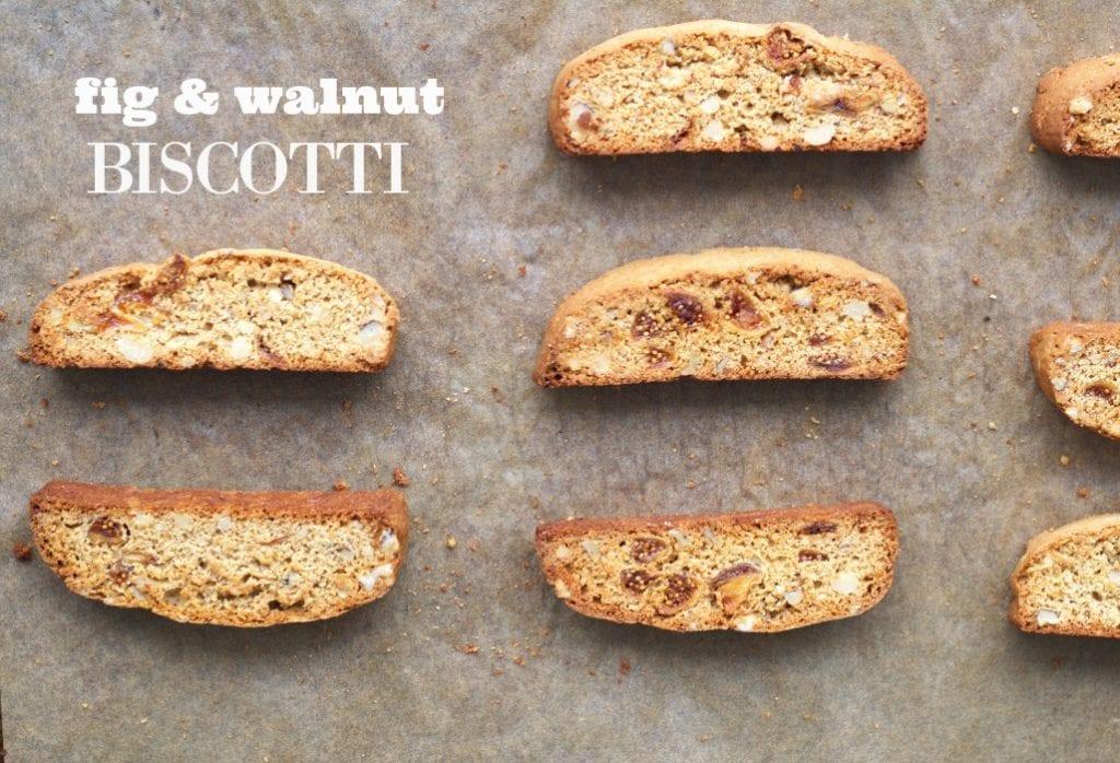 Fig and Walnut Biscotti