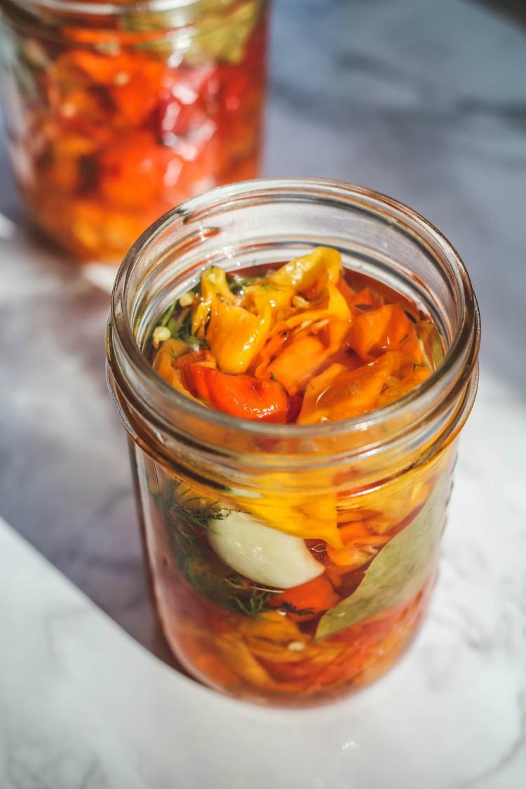 jar of peppers