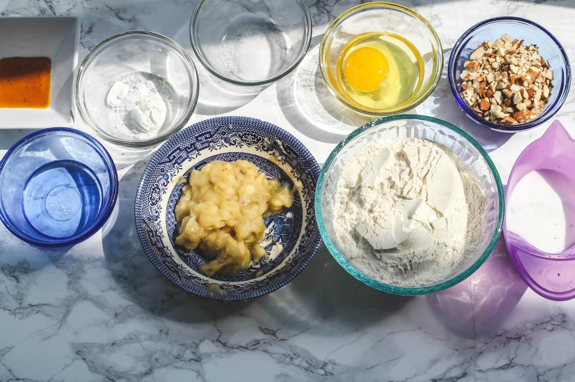 image of ingredients to bake biscotti