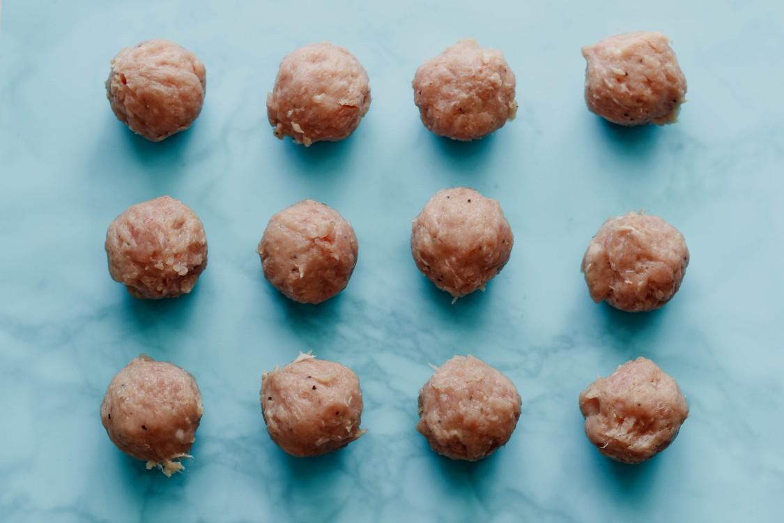 overhead image of meatballs