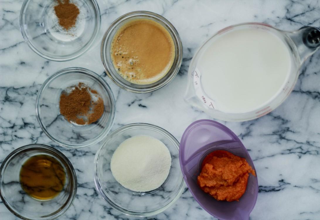 image of making pumpkin spice latte
