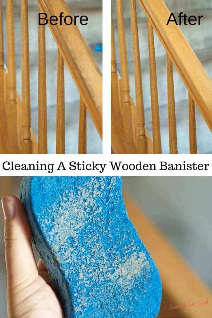 Cleaning Sticky Wooden Banisters Savoring The Good   Wooden Banisters And Railings   Interior   Small   Horizontal   Creative Diy   Hand