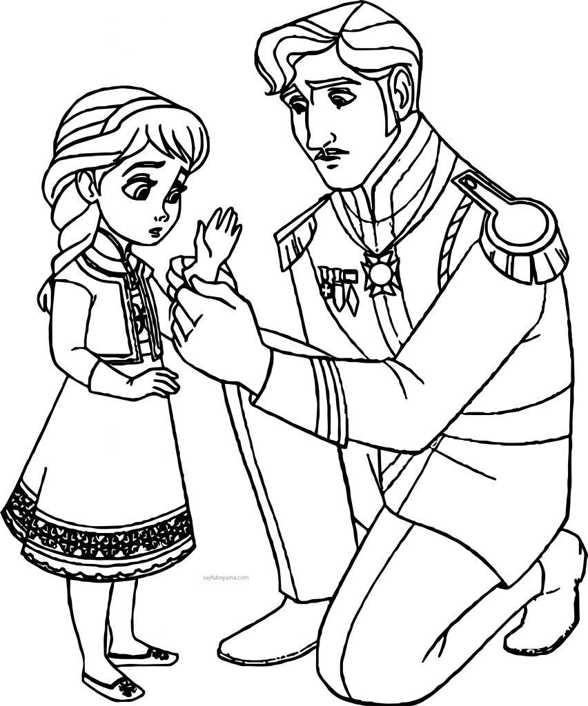 Prenses Boyama Elsa Boyama Sayfasi