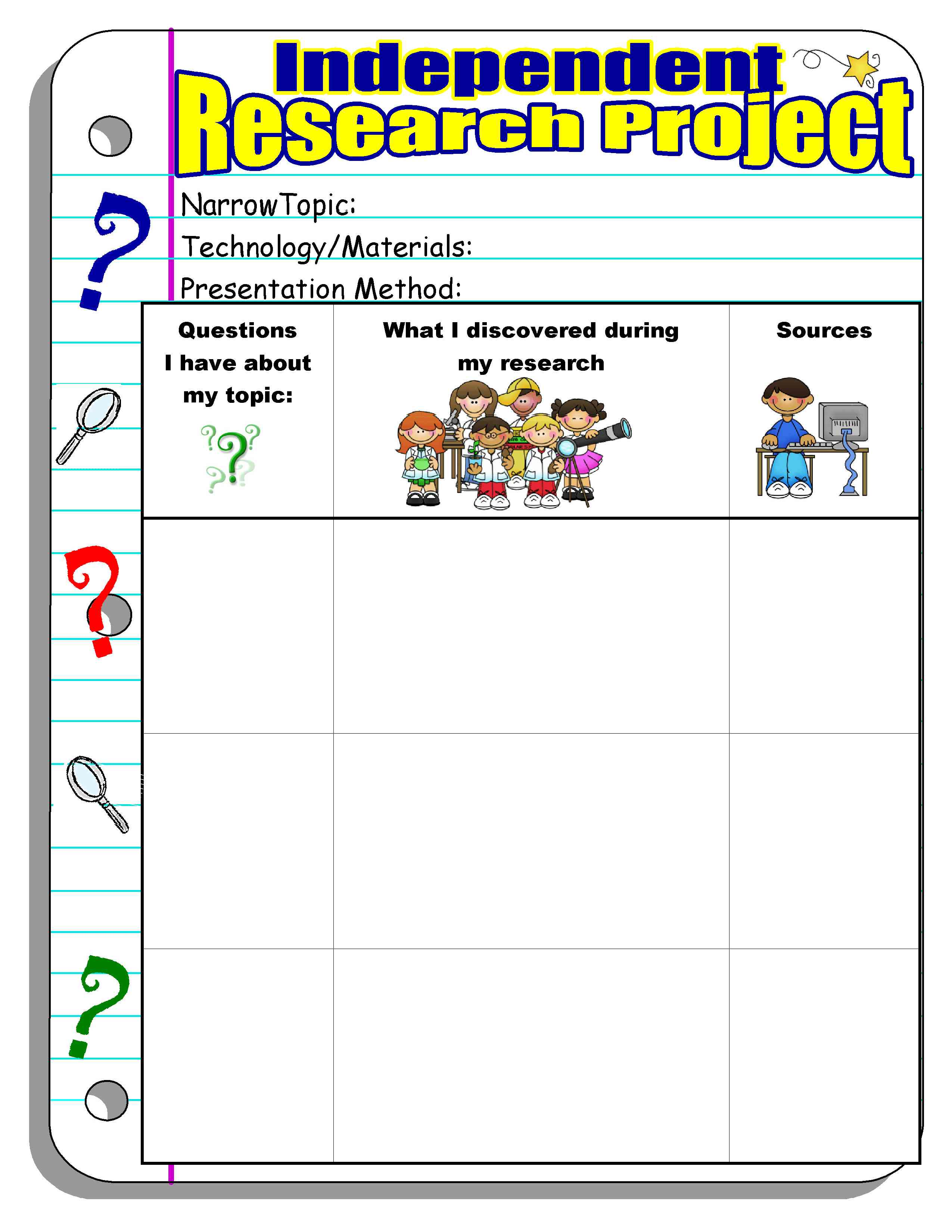 Graphic Organizer Book Report Chapter