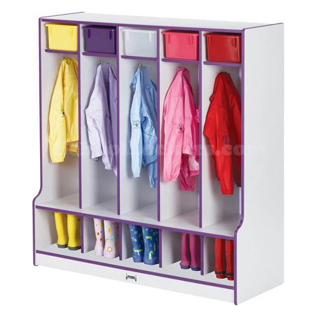 Colorful Kids Coat Lockers with Cubbies and Seats