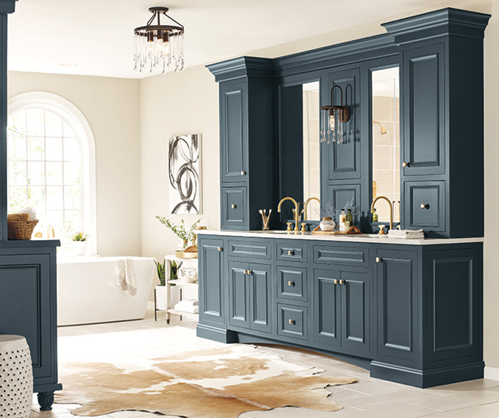 Maritime Blue Cabinet Paint On Maple Schrock Cabinetry