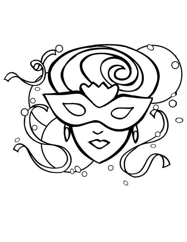 mardi gras coloring pages free printable # 41