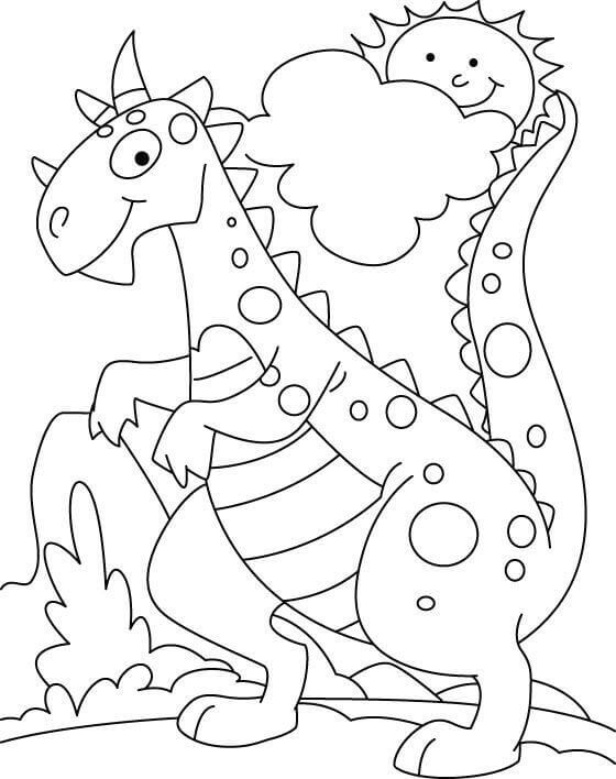 free printable dinosaur coloring pages # 84