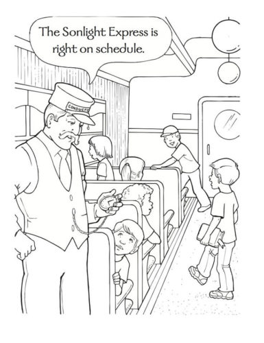 polar express coloring pages free # 38