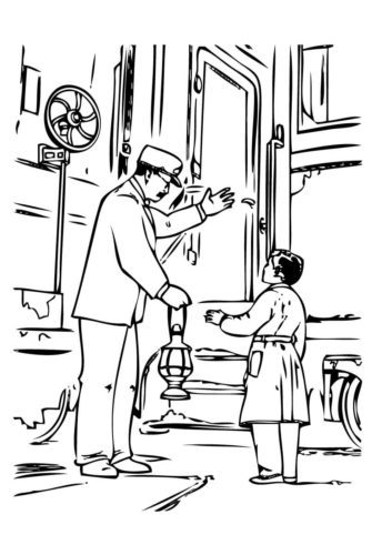 polar express coloring pages free # 78