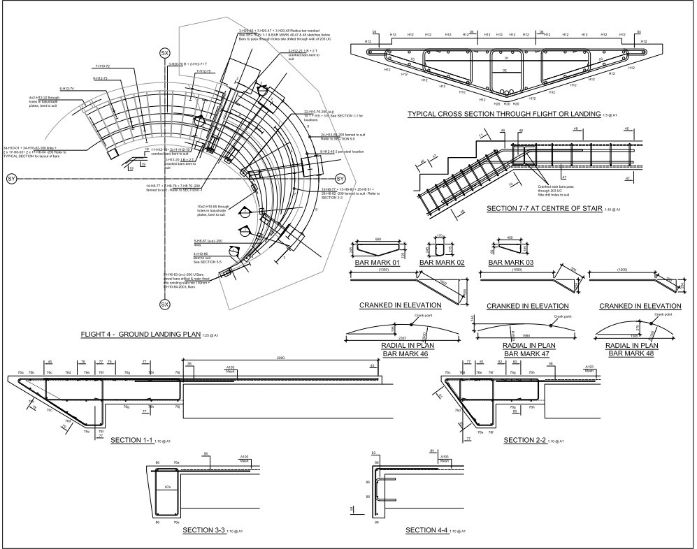 Elliptical Spiral Staircase Sd Structures | Helical Staircase Structural Design