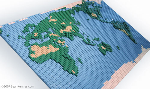 Sean Kenney   Art with LEGO bricks   You Are Here LEGO Map of the World