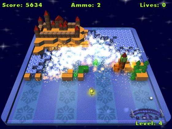 Alpha Ball Brick Game download free playing shareware demo 17 types of power ups  gun  rockets  bombs  fireball  big balls  and more   Suspend Game feature that lets you quit a game and return to it later