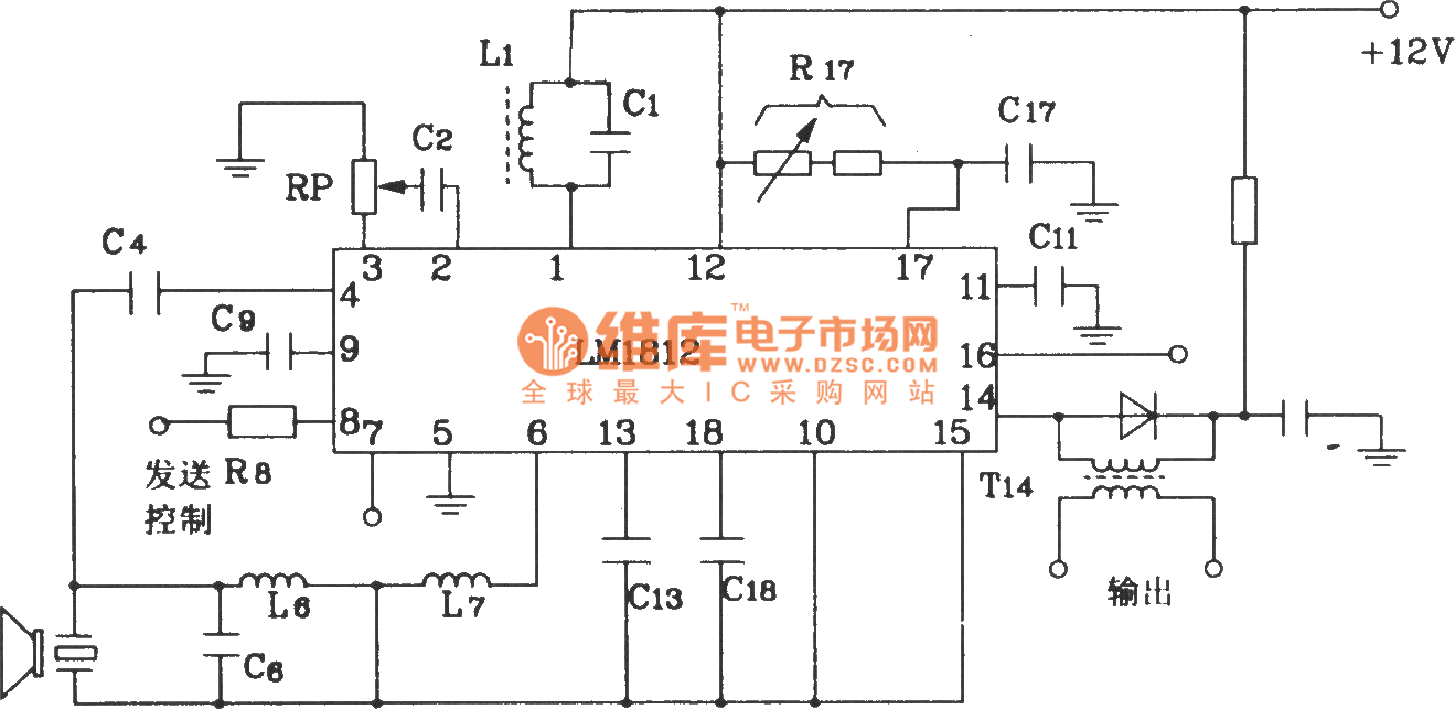 Ultrasonic Receiver Send Range Circuit