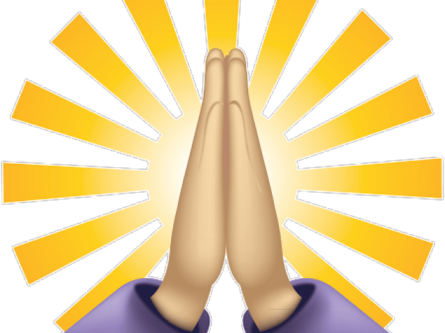 praying hands emoji - 640×480