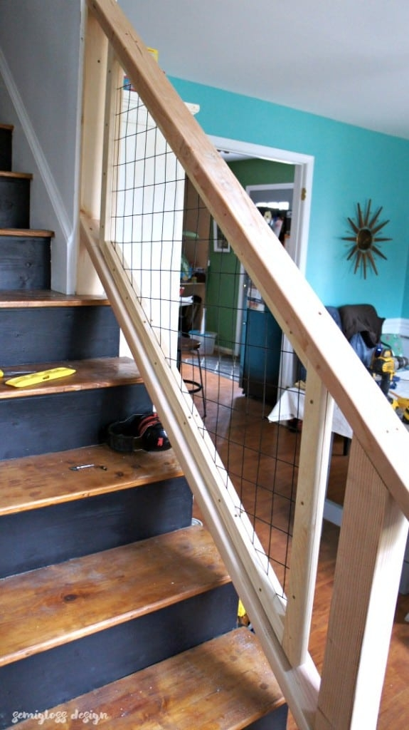Must See Modern Diy Stair Railing Makeover Tutorial Semigloss Design | Building A Stair Rail | Craftsman Style | White | Horizontal | Glass | Inexpensive