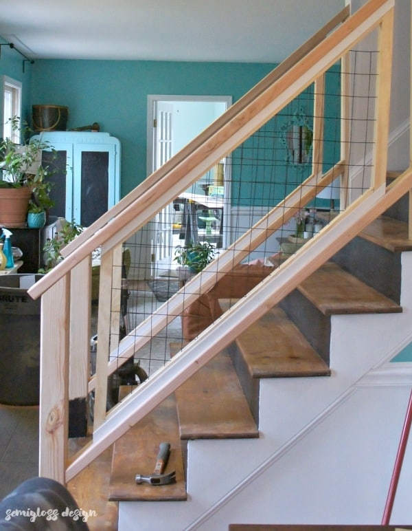 Must See Modern Diy Stair Railing Makeover Tutorial Semigloss Design | Modern Stair Hand Railing | Creative Outdoor Stair | Wooden Stair | Decorative | Curved Metal | Diy Modern