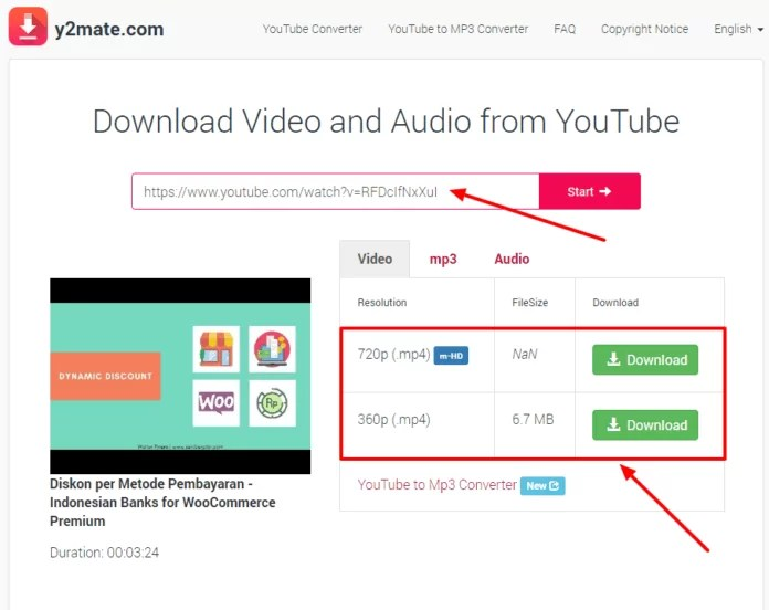 Cara Download Video Youtube Gratis dengan Y2mate