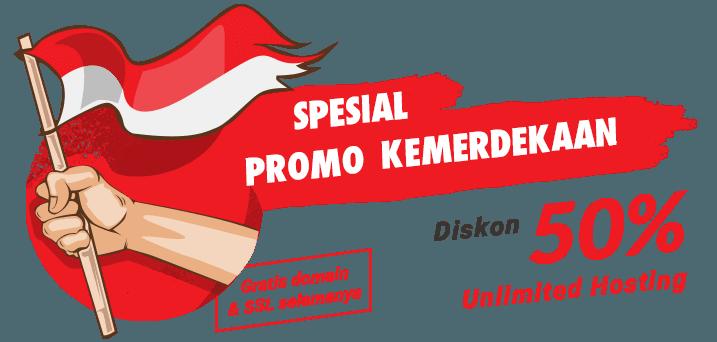 Diskon 50% Unlimited Hosting Spesial Hari Kemerdekaan + Domain .ID