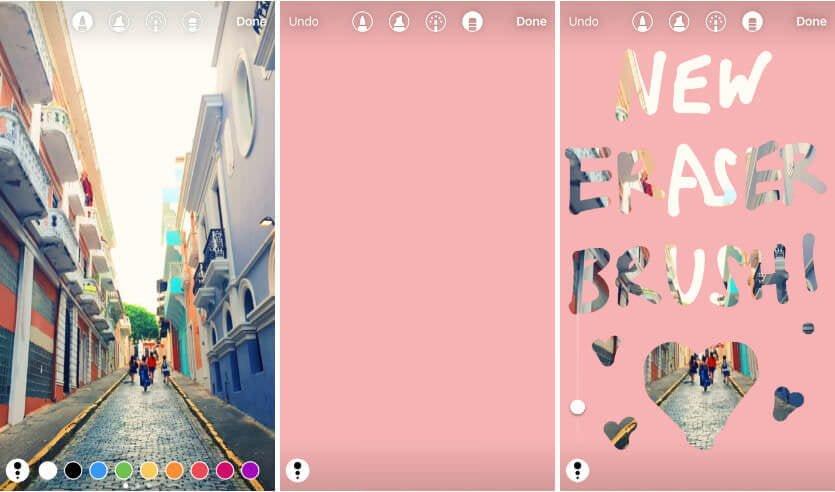 Fitur Terbaru Instagram - instagram eraser brush