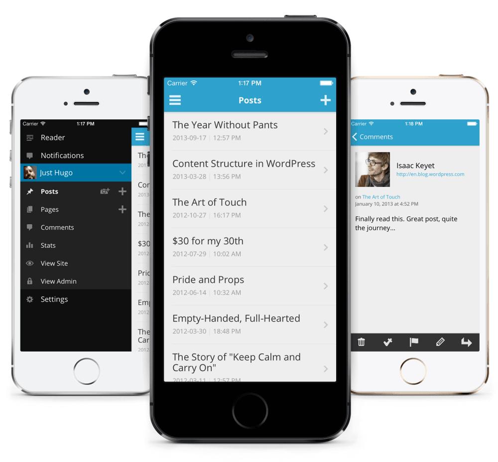 aplikasi iPhone untuk blogger - WordPress