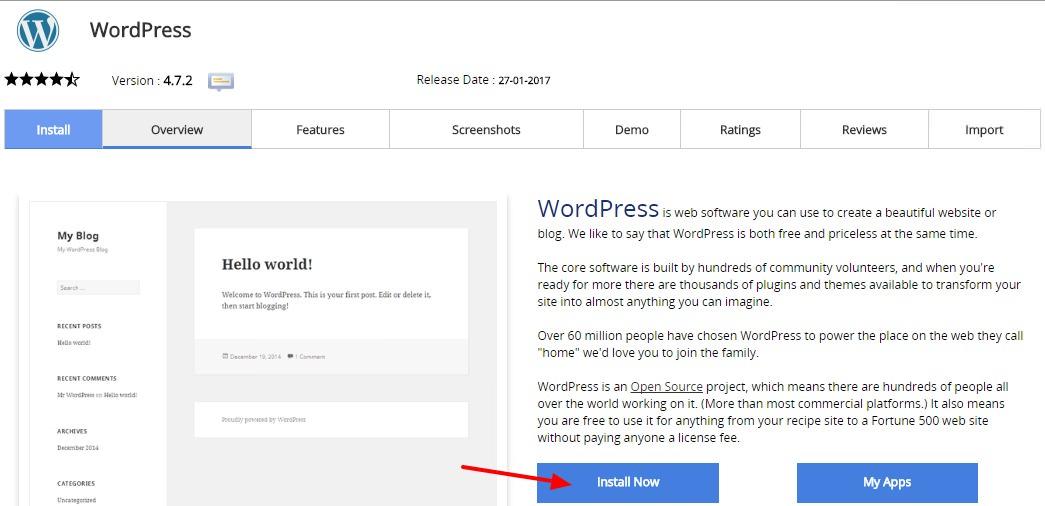 cara membuat blog wordpress self-hosted - install WordPress di cPanel