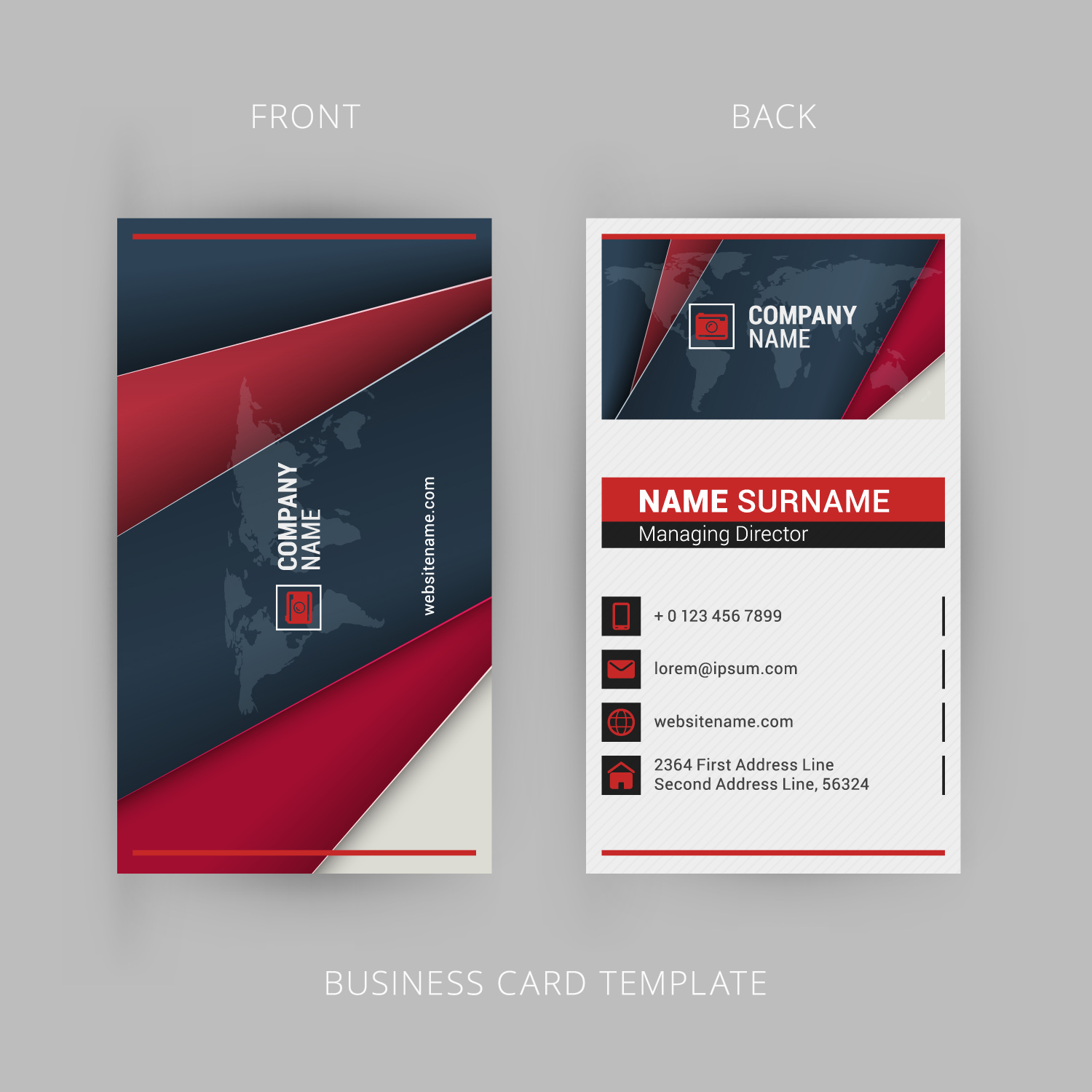 Design Three Different Types Of Business Cards In One Deal