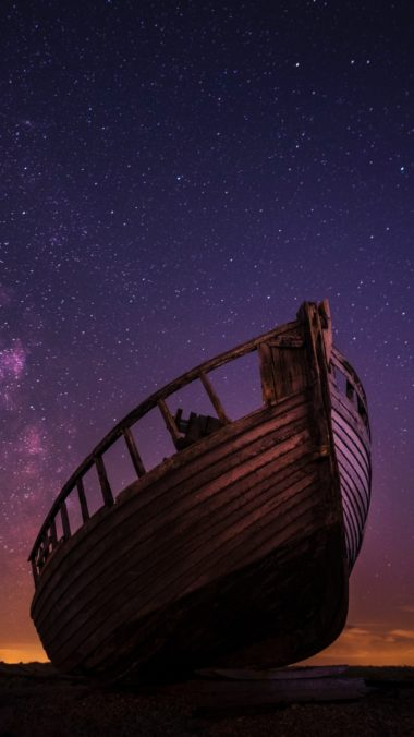 Xiaomi Redmi Note 5A Wallpapers HD Boat Starry Sky Night Wallpaper 720x1280 380x676