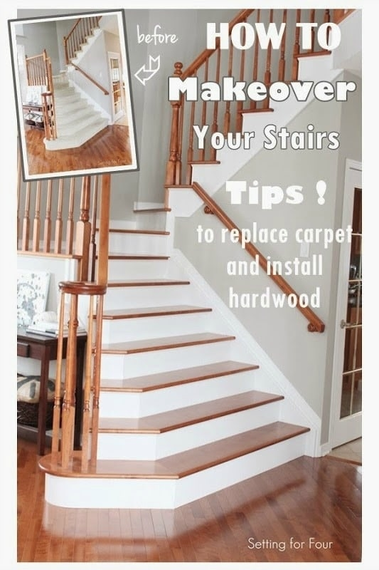 How To Makeover Your Stairs Find A Good Pro Tips To Replace | Installing Hardwood On Stairs | Wooden | Painted Wood | Handrail | Nosing | Vinyl