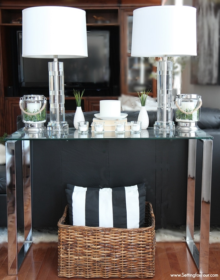Decorating with Lanterns   Outdoor and Indoor Ideas   Setting for Four How to decorate with lanterns indoors and outdoors  Lanterns look beautiful  on a console table