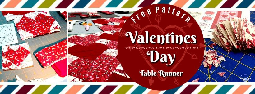 Sewing Patterns Valentines Day Table Runner