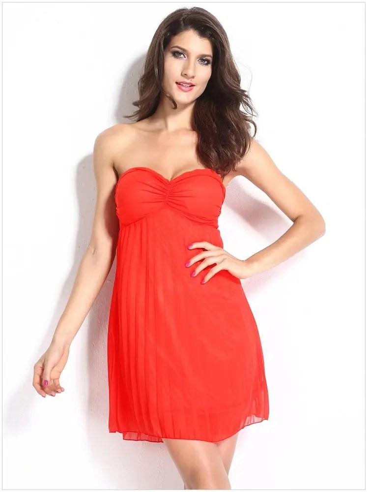 Cheap Sexy Sleeveless Short Orange Cocktail Dress - Online ...