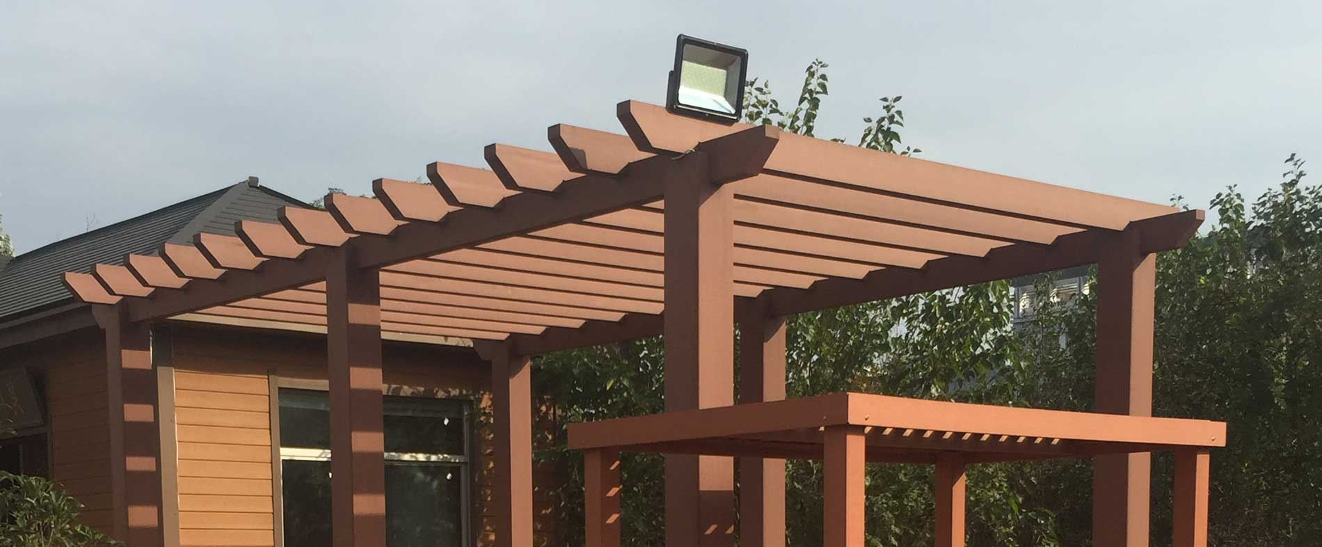 Composite Wood Pergola Kits Sgc Synthetic Grass