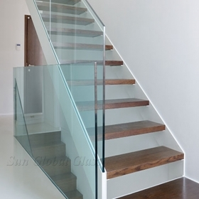 Railing Glass Supplier China Tempered Glass Railings Supplier | Glass Balustrade With Wooden Handrail | Contemporary | Glass Panel | Interior | Guardrail | Atrium