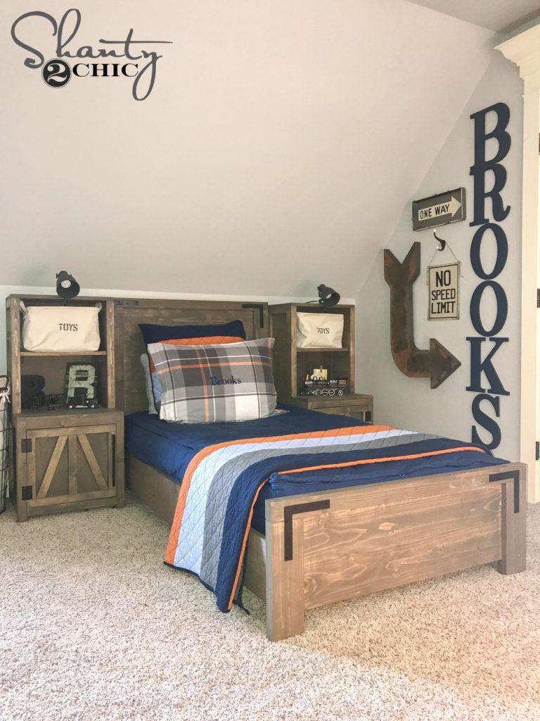 Diy Modern Farmhouse Platform Bed Shanty 2 Chic