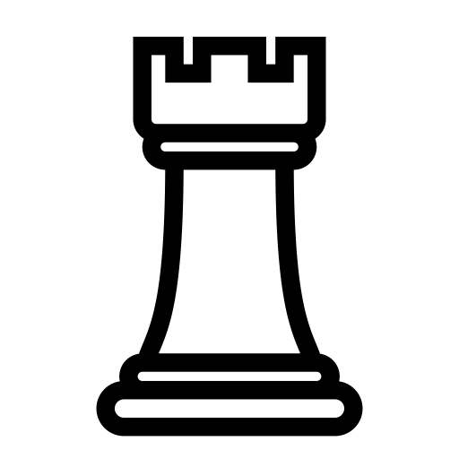 Battle Checkmate Figure Game Rook Chess Icon