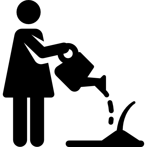 Humanpictos, gardening, woman, Sprout, people, watering icon
