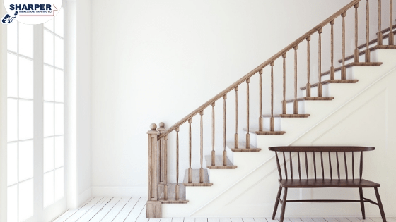 Should You Paint Or Stain Stairs And Railings In Your Home | Painted And Stained Stairs | Easy Diy | Two Tone | Espresso Stained | Pinterest | Home