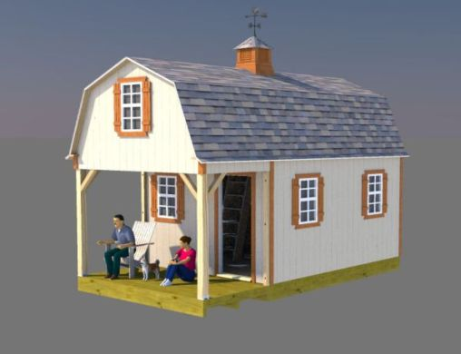 12x22 Gambrel Shed Home Plans