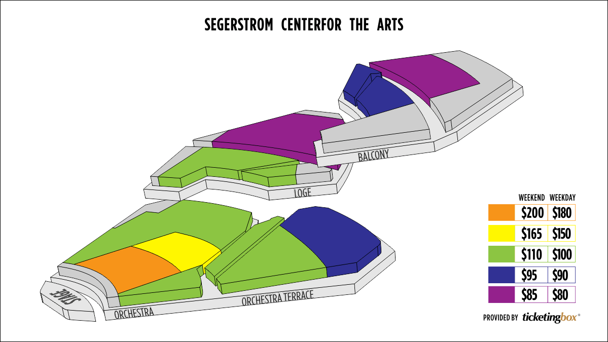 Center Arts Orchestra Seating Segerstrom