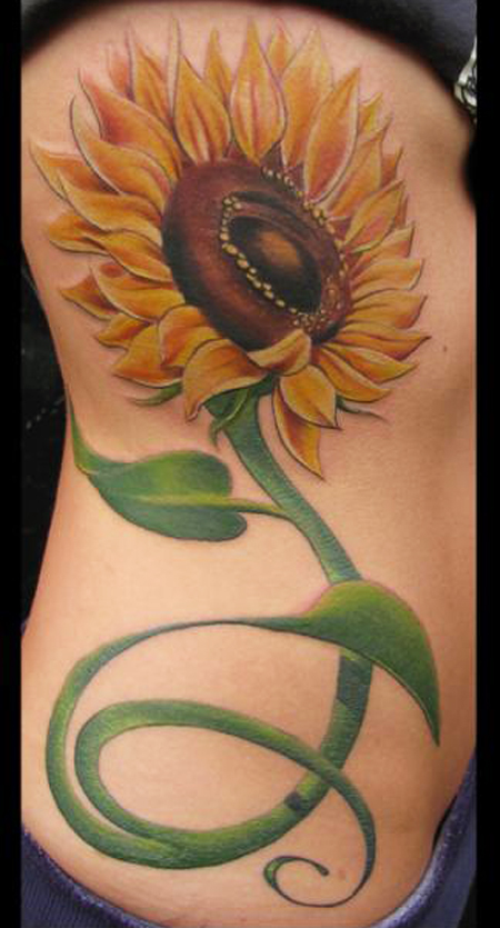 30+ Realistic Sunflower Tattoo Designs | ShePlanet